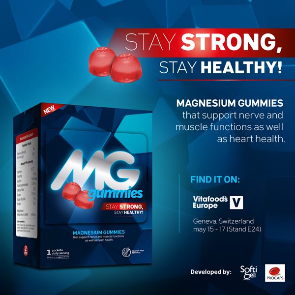 Mg Gummies: A fun and delicious way of staying healthy and strong! Try them at Vitafoods Europe